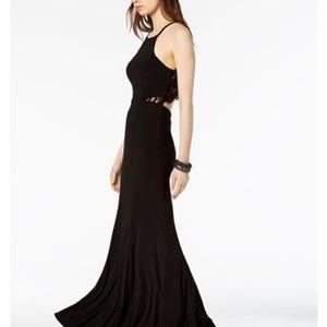 🔥Macy's Lace-back Formal black dress🔥